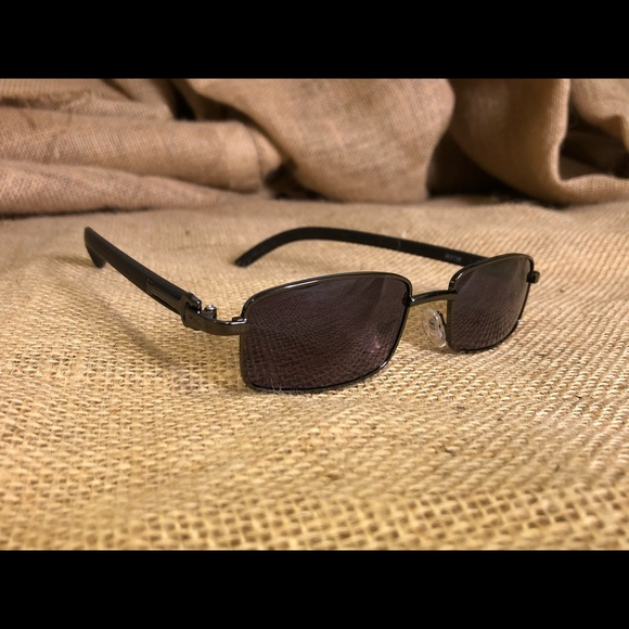 47098f7cfb6c2 Black Fashion Sunglasses W Faux Wood Frames